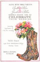 Product Image For Boots & Bouquet invitation