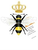 Product Image For Queen Bee Die Cut invitation