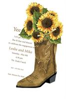 Product Image For Western Boot Die Cut invitation