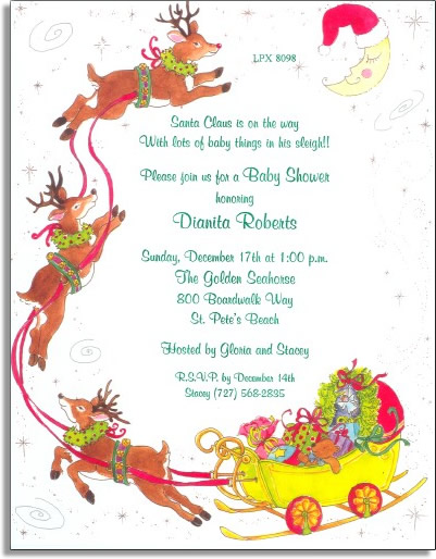 "Santas Baby Sleigh Paper - Make an impression with our premium quality designer 8.5 "" x 11"" paper & coordinating envelopes which are laser/inkjet compatible. Coordinating envelopes are sold separately.Easy to print on your printer or we can print for you."