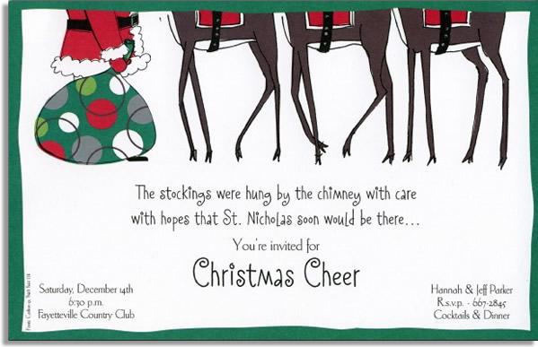 Santa & Reindeer Feet - A trendy design printed only on premium fine ...