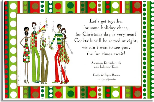 Merry Toast Invitation - SALE!  ONLY 50 LEFT!A trendy design printed only on premium fine quality 80 lb. card stock. Available either blank or personalized. Includes white envelope.