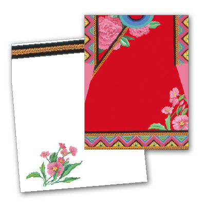 Asian Kimono - Premium quality cardstock includes coordinating envelope shown.  Inkjet/laser compatible and available blank or personalized.