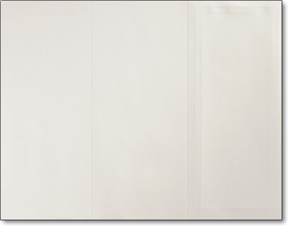 Embossed Ivory Border Brochure - Our easy to print tri-fold brochures have a design as shown on both sides of the paper.  The brochure is scored for easy folding & inkjet/laser compatible for simple printing on your printer.Additional quantities are available beyond quantities shown on the price list.Coordinating items also available.