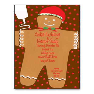 "Gingerbread Santa Paper - Make an impression with our colorful designer 8 ½"" x 11"" paper & coordinating envelopes which are laser/inkjet compatible. You wont find premium quality paper like this at your local store. Coordinating envelopes are sold separately.DONT FORGET OUR COORDINATING DESIGNER INVITATIONS."