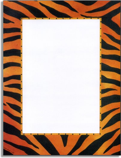 "Real Tiger Skins Paper - Make an impression with our premium quality colorful designer 8  ½"" x 11"" laser/inkjet paper which is easy to print on your printer!A wide selection of solid color envelopes are also available to coordinate with all paper styles."