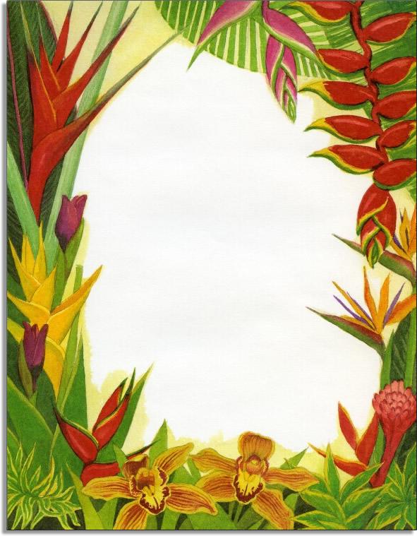 Quick View Gl215 Quot Hawaiian Flora Laser Paper Quot