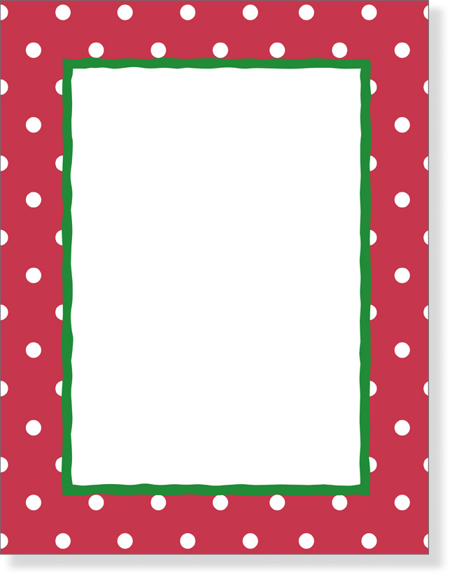 "Red Border Dots Paper - discontinued""Dot Makes Me Happy!"" laser paper ..."