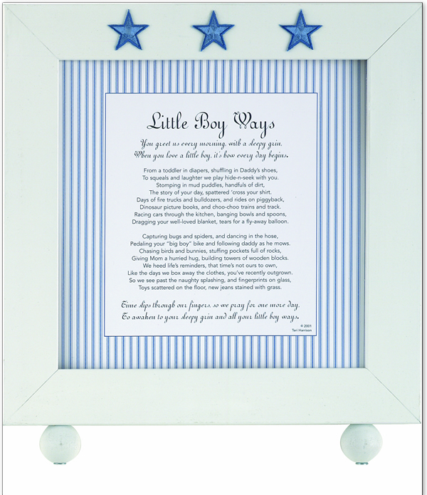 little boy ways frame unique blue star accented frame for that special little boy