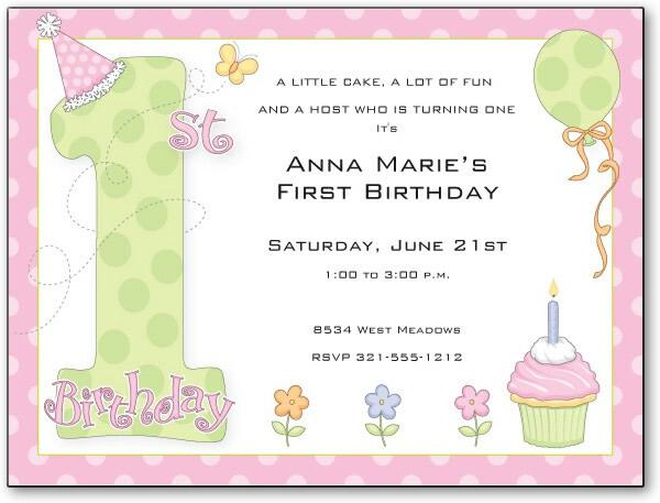 "Quick View - PIV542 - ""1st Birthday Party Girl Digital Invitation"""