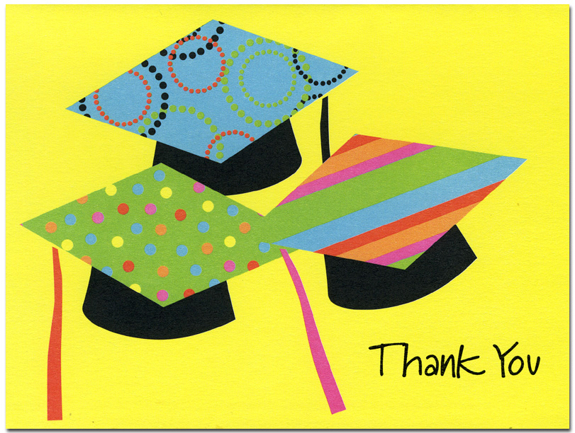 Multi Caps Notecard - Trendy retro designer notecard can be ordered with THANK YOU on front exactly like sample(ORDER BLANK) or personalized with any text you specify on front (ORDER PERSONALIZED).  Notecard is blank inside for your personal note and includes white envelope.  MAKES A WONDERFUL GIFT!