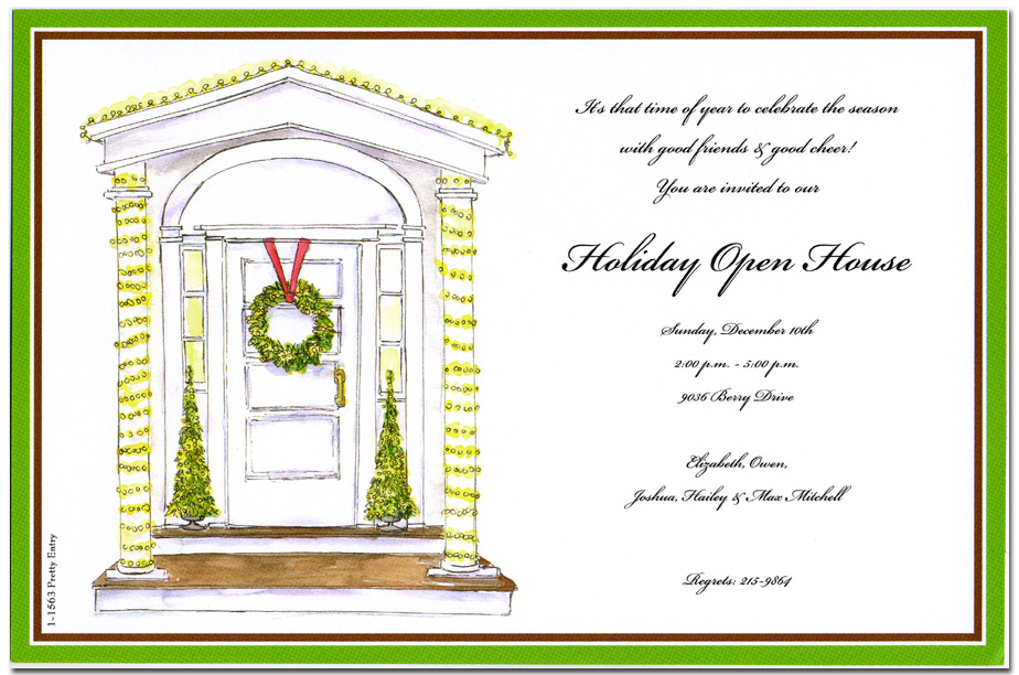 Pretty Entry  - Only 30 Available for 20% Off!A festive and colorful design printed only on premium fine quality 80 lb. card stock. Available either blank or personalized. Includes white envelope.