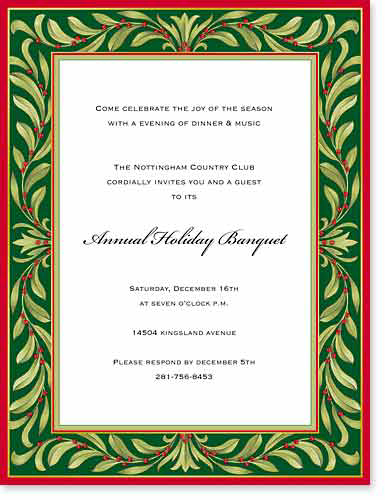 Holiday Greenery Designer Paper - OUT OF STOCKA beautiful green and red holiday paper that is designed with a festive border of green foilage that is perfect for any holiday announcement.   Envelopes sold separately.