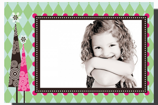 First Christmas Photo Card  - This fun 5.5x 8.5 attachable photo card is great for the season!  Photo card comes : *Blank*pregreetingWarmest wishes this holiday season.*personalization-specify portrait or landscape
