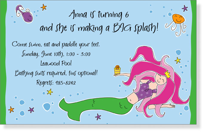 Sea Party Invitations with amazing invitation example
