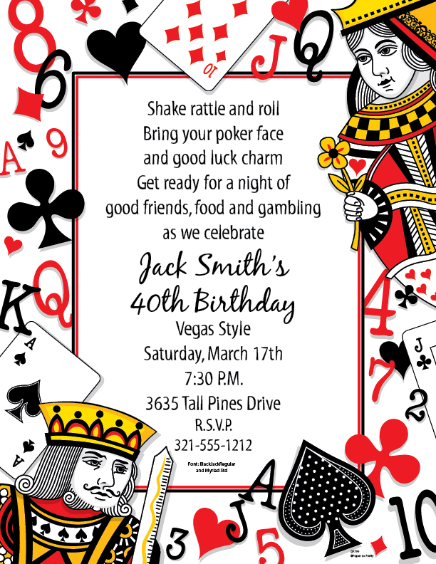 Casino Royale Theme Party Invitations - Free Printable Invitation ...