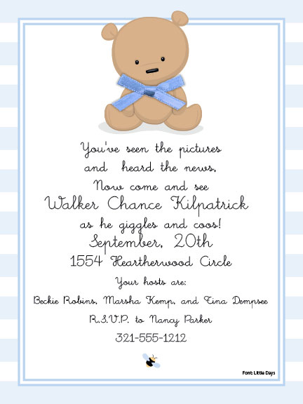 baby teddy bear baby shower invitations this baby shower invite has