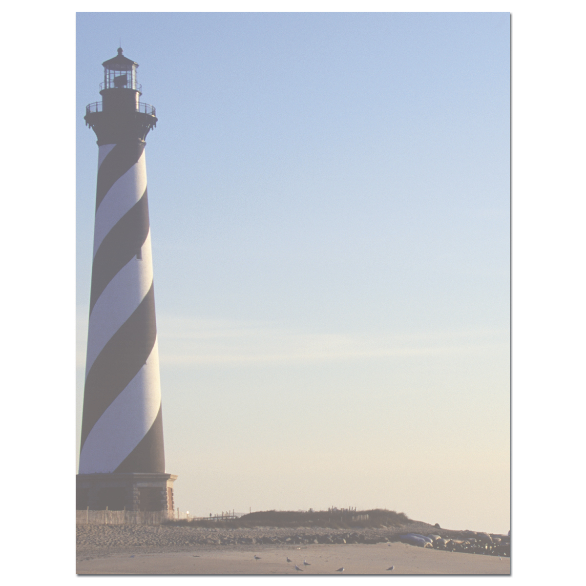 Ocean View Letterhead  - Our desktop/EZ-print papers are a cinch for you to print on your inkjet/laser printer. Dont forget the coordinating #10 size envelope shown. (NOT AVAILABLE PERSONALIZED)