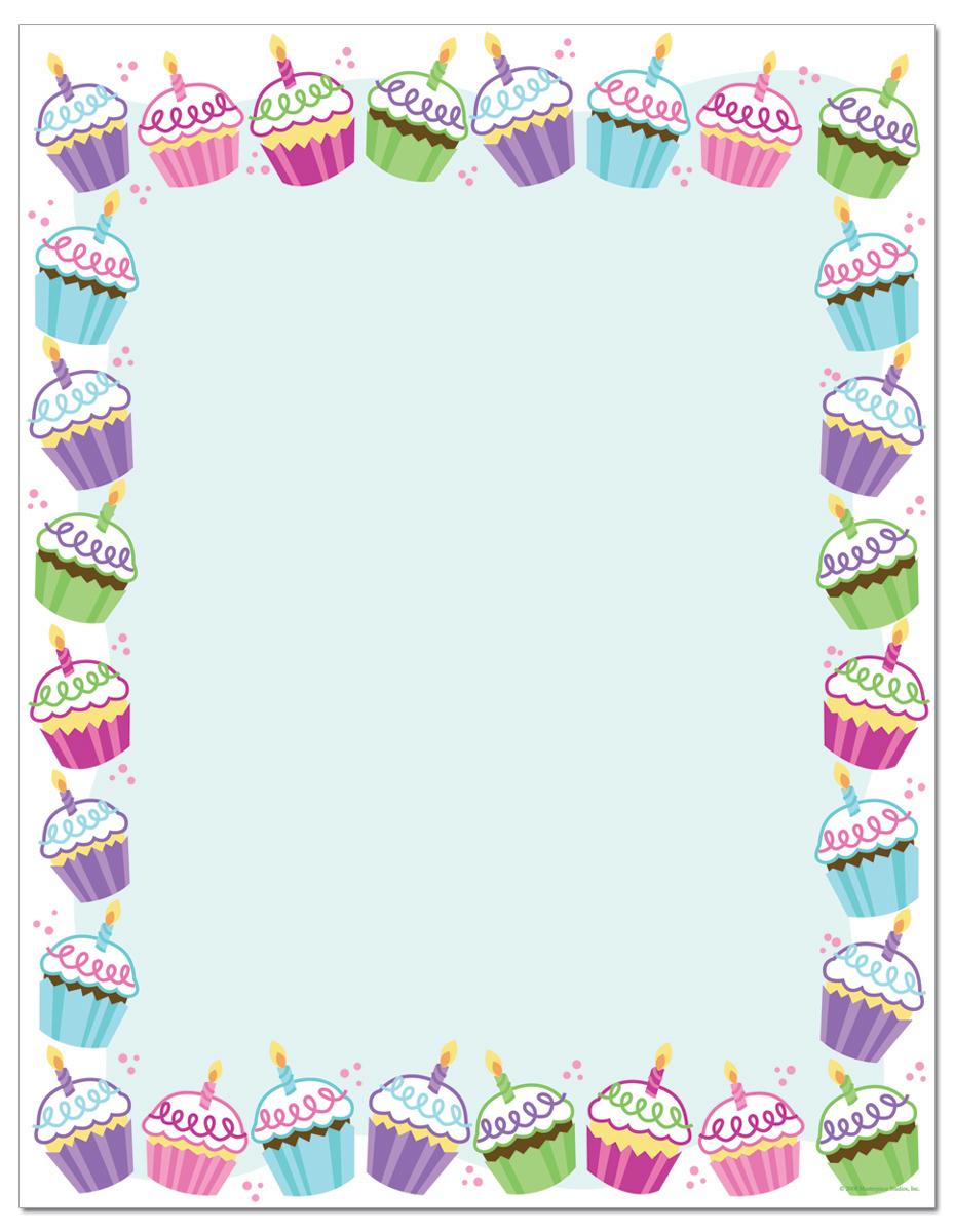 """Quick View - MALH080 - """"Cute Cupcakes Letterhead"""