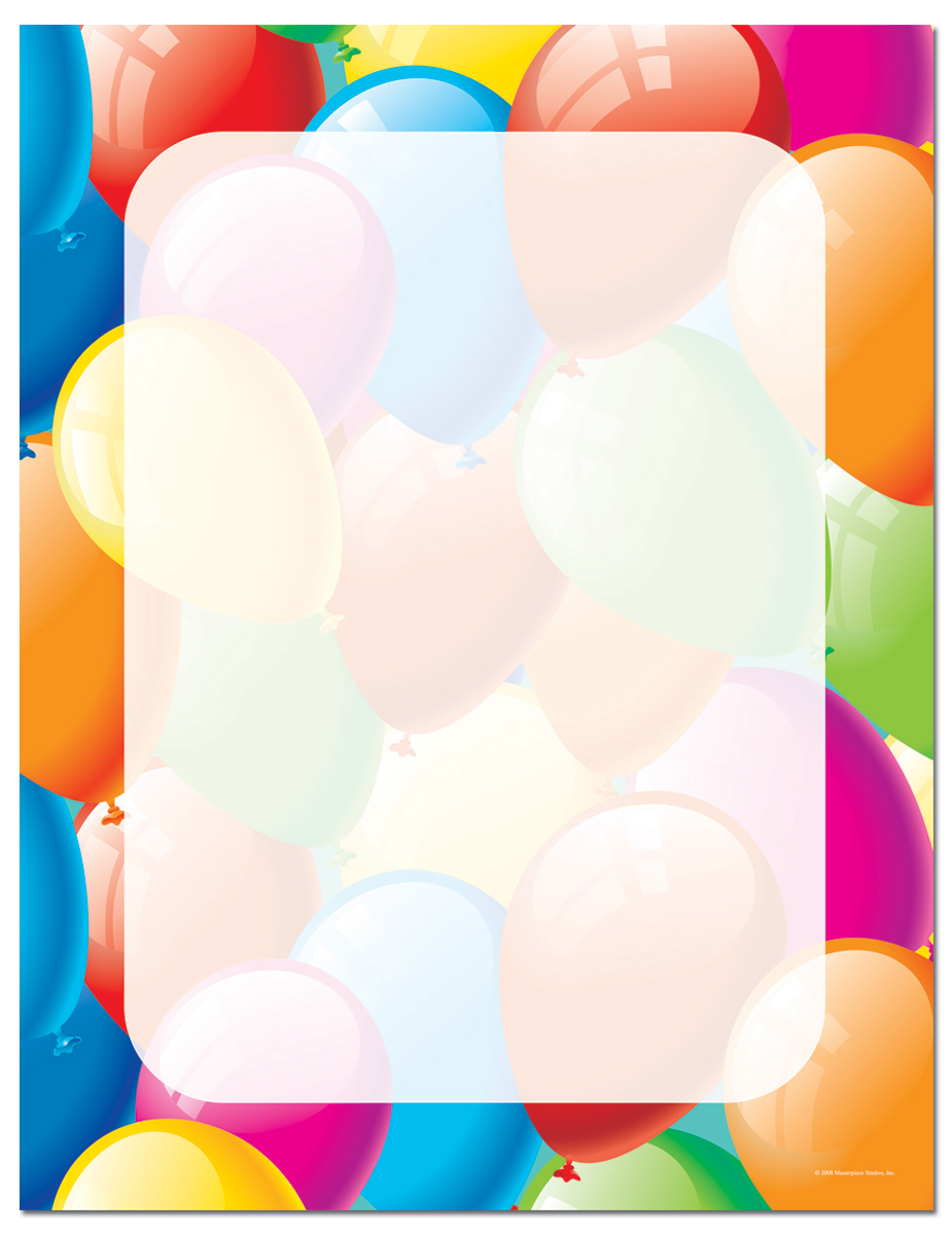 Quick view malh105 balloon border letterhead balloon border letterhead our desktopez print papers are a cinch for you thecheapjerseys Gallery