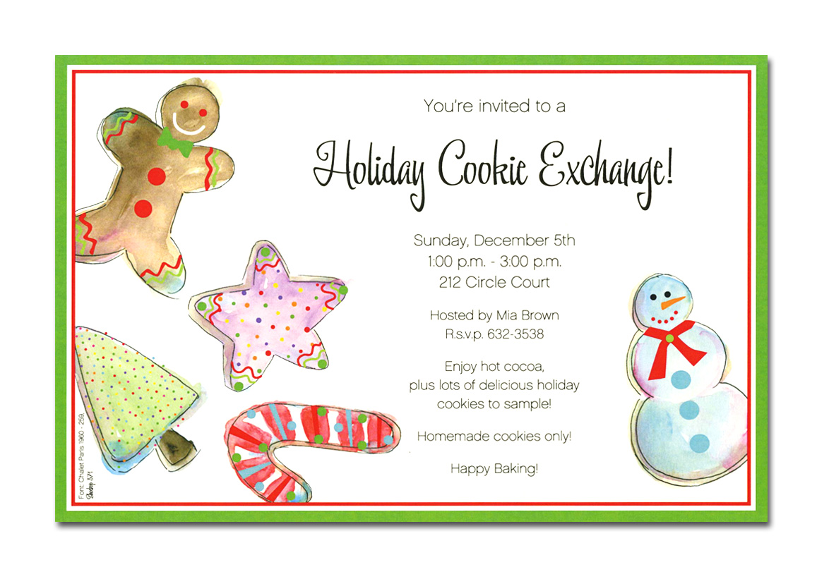 Jolly Cookies - Exclusive line and trendy design printed  on premium fine quality 80 lb. ivory card stock. Available either blank or personalized. Includes ivory envelope.