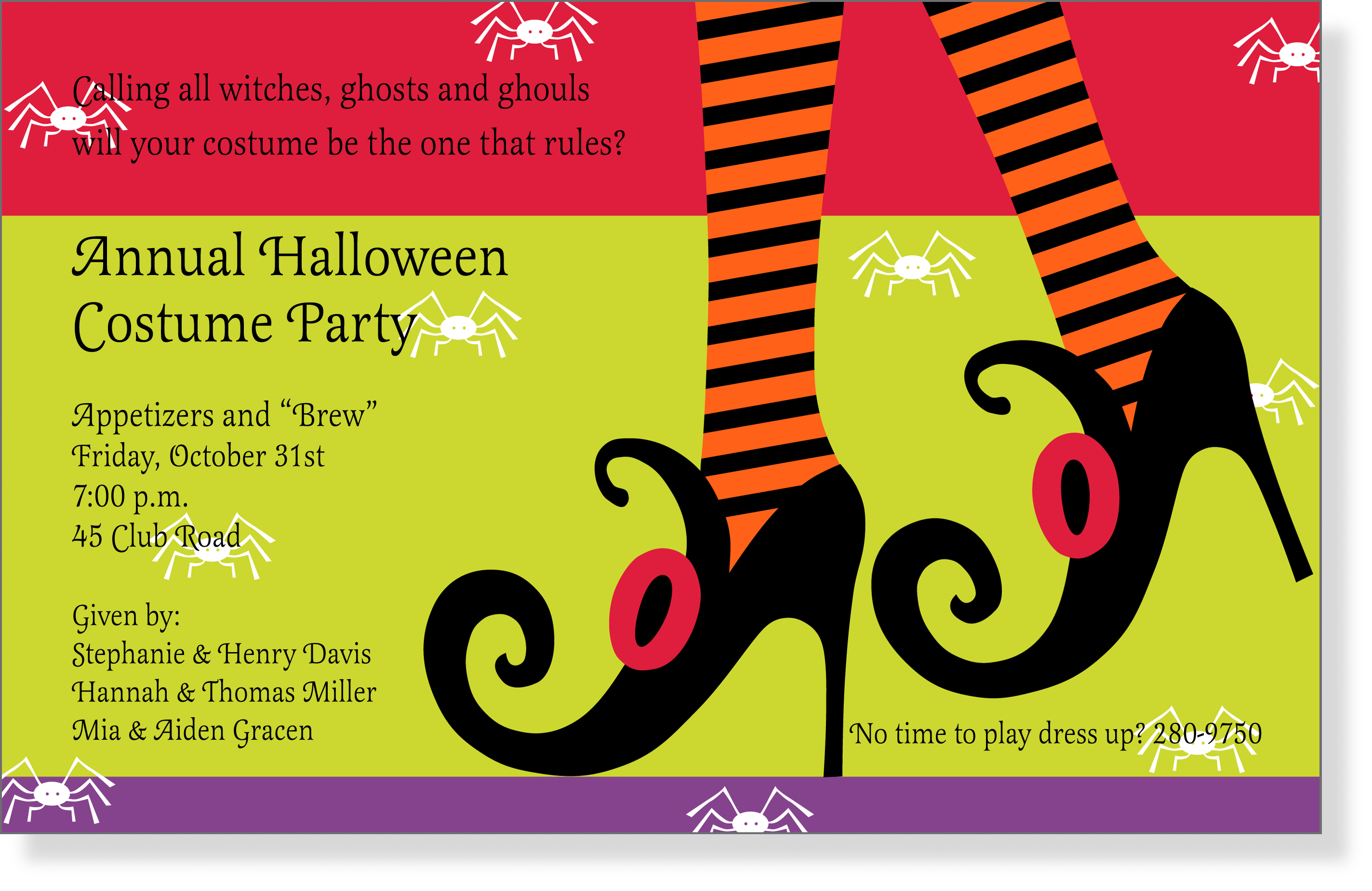 impressions in print all posts tagged holiday invitations wicked heels a great halloween themed design printed only on premium fine quality 80 lb