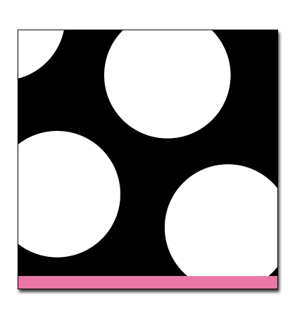 Spots Black Small Beverage Napkin - Complete your event with this Trendy polka dot design! 25cm x 25cm. Blank and white with pink border. Coordinating products available, but sold seperately.