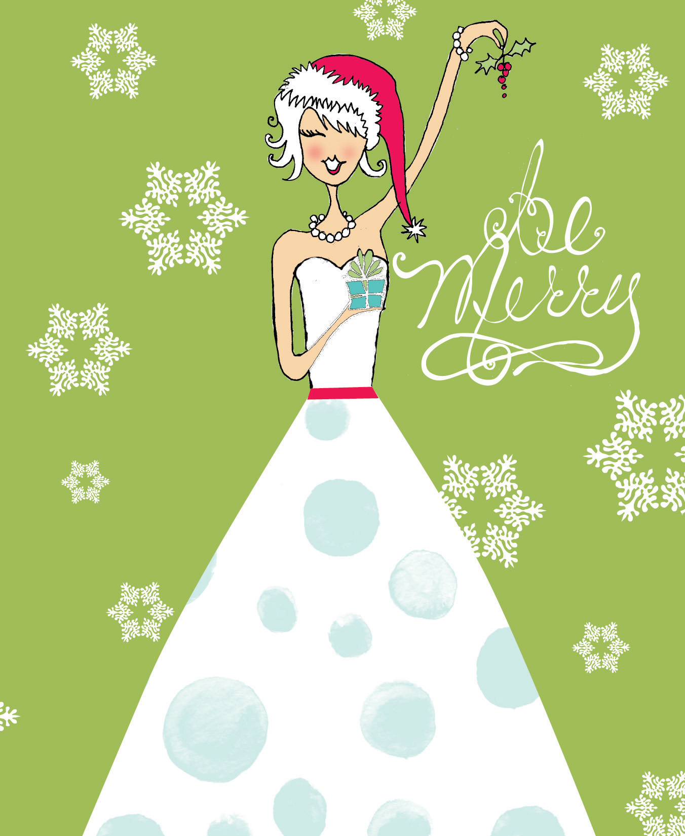 Be Merry Note Card - Classy fold over white note card with a Christmas theme.  You can upgrade the card with gem for an additional .30 cents per card. Comes with color coordinating envelope. assembly required for gem add on.