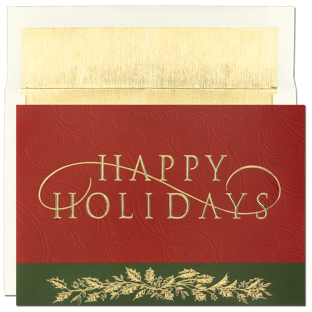 Quick View M65289b Happy Holiday Greeting Card