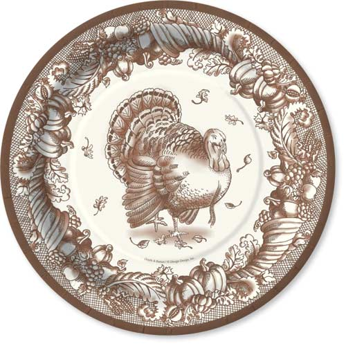 Turkey Toile - Brown Dinner Plate - DISCONTINUEDComplete your event with our colorful coordinating tableware designs.  sc 1 th 225 & Quick View - DD-625-02345 -
