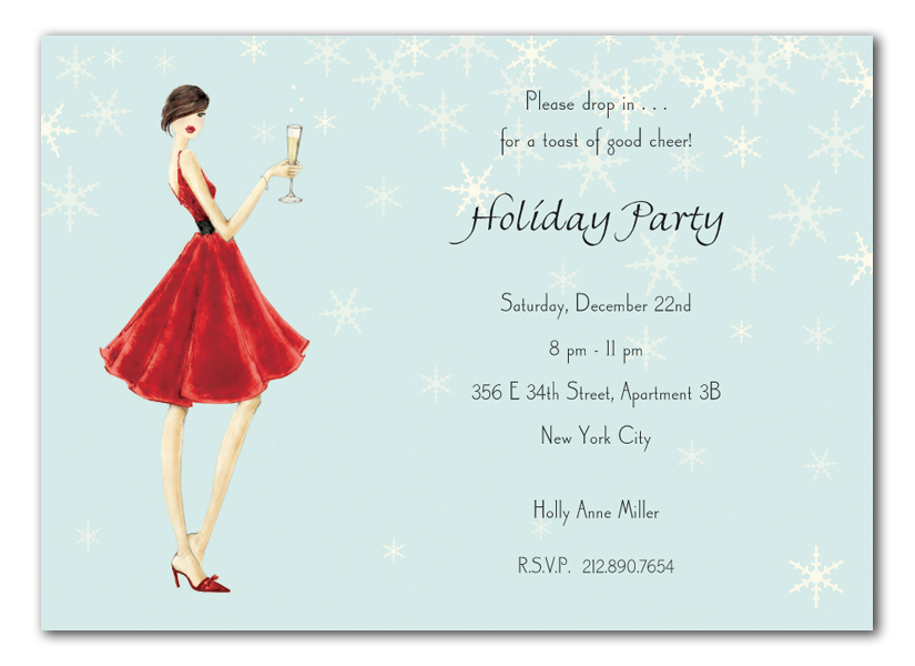 ombre snowflake christmas party invitation printable file. Black Bedroom Furniture Sets. Home Design Ideas