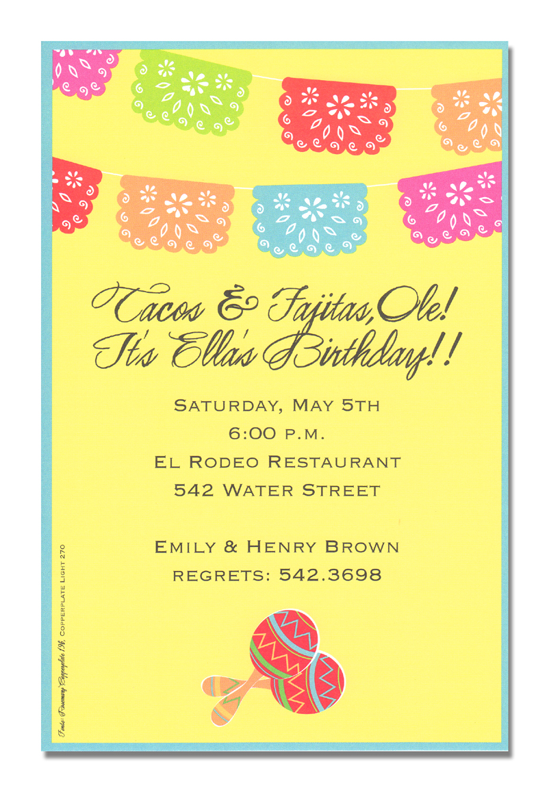 will accent your party perfectly. A brightly colored banner is hung ...
