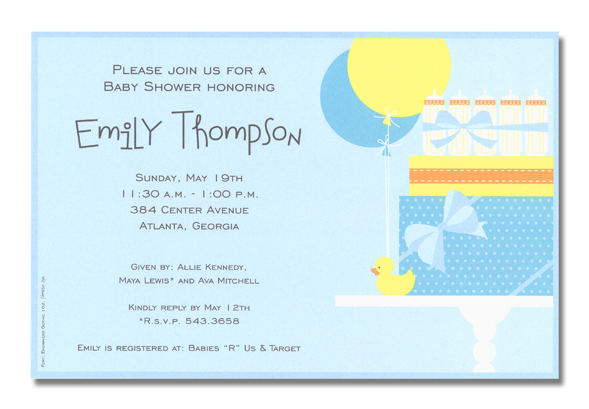 blank duck baby shower invitations blank baby shower invitations