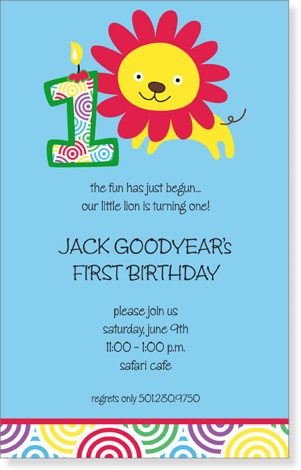 "Quick View - LSA-12576 - ""My First Birthday Invitation"""