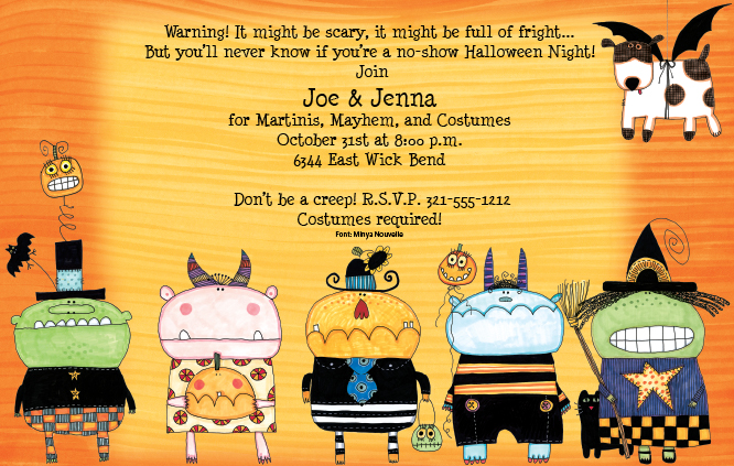too! These creepy little monster children are ready for Halloween ... Cute Halloween Flyer Templates