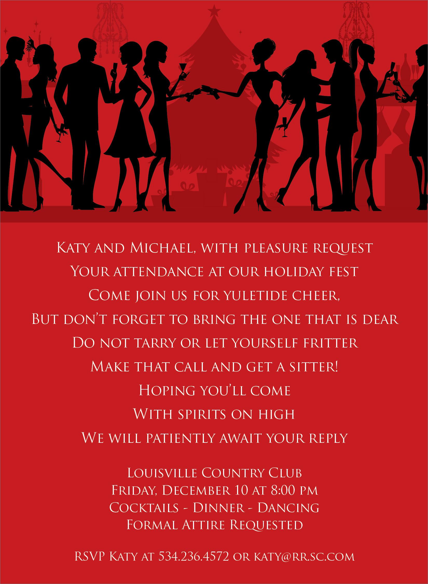 Amazing formal christmas party invitation wording contemporary christmas party invitation wording uk cogimbo stopboris Images