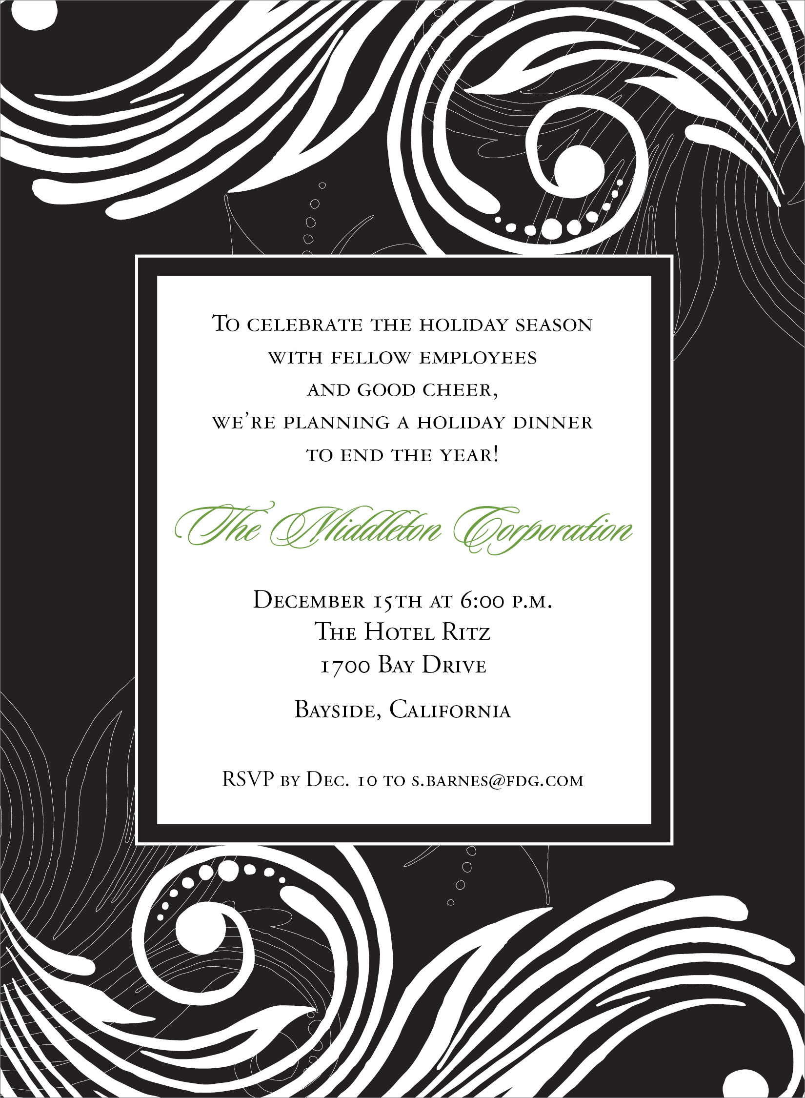 formal dinner invitation template best formal dinner invitation template