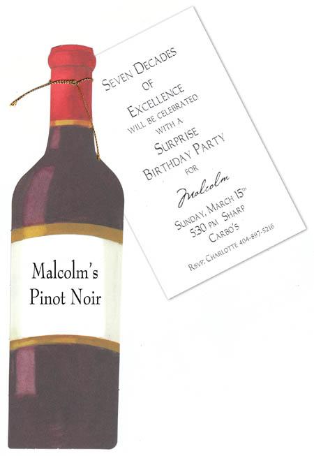 Quick View Yaw918 Red Wine Bottle Die Cut Invitation