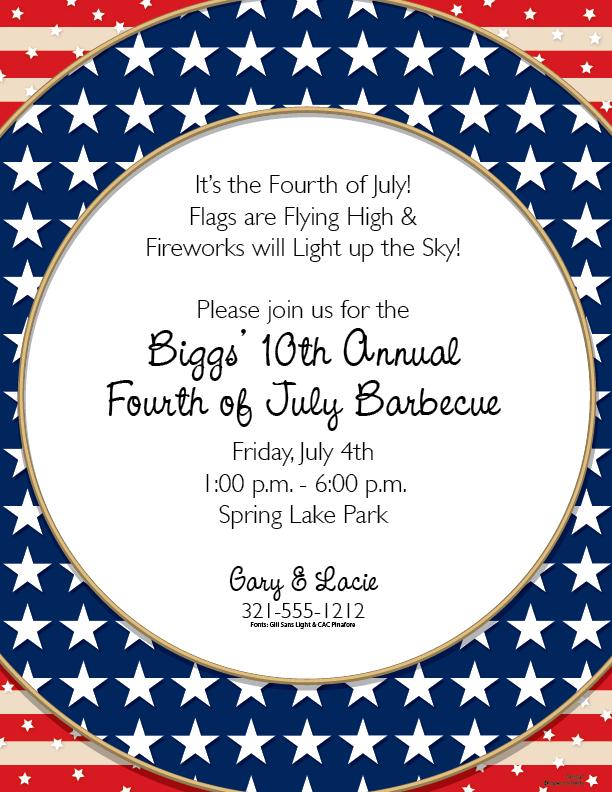Fourth Of July Border