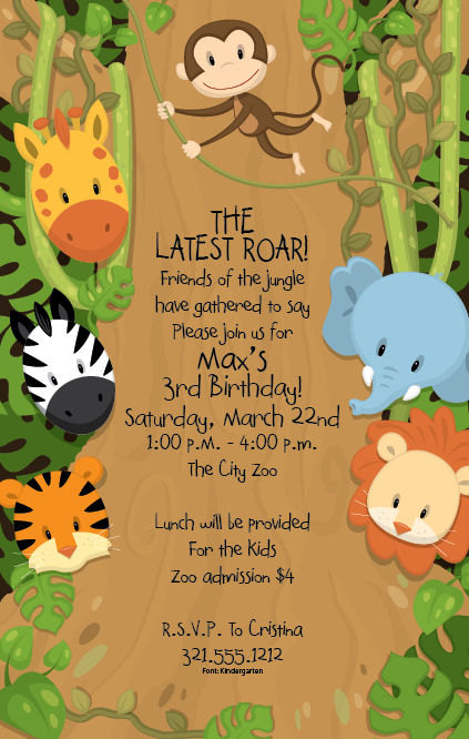 Jungle Themed Birthday Party Invitations was beautiful invitation sample