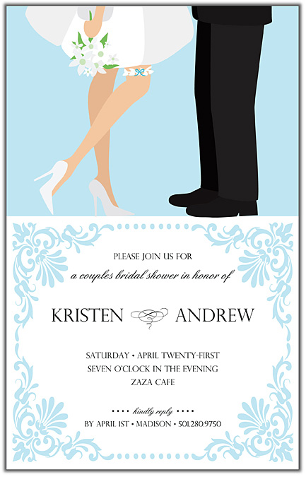 "Happy Bridal Couple Invitation - TEMP OUT OF STOCK""Happy Bridal Couple ..."