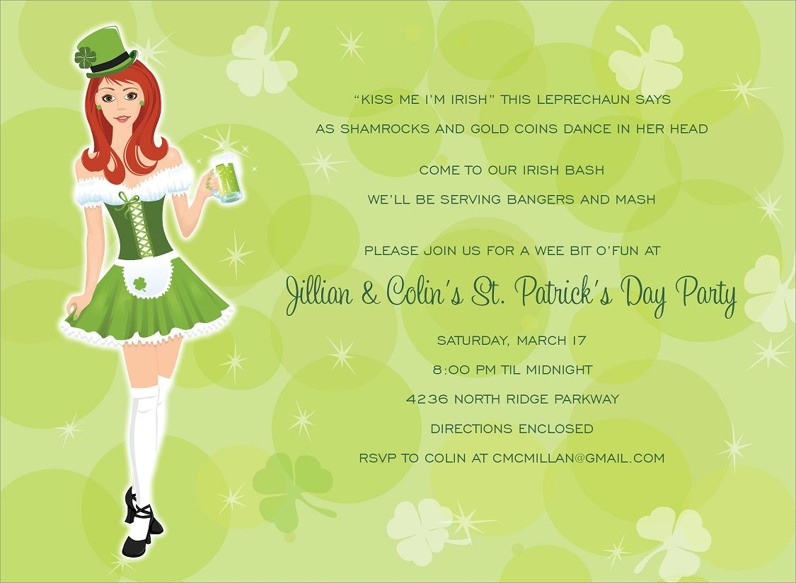 st patricks day girl invitation a perfect invitation for your annual st patricks