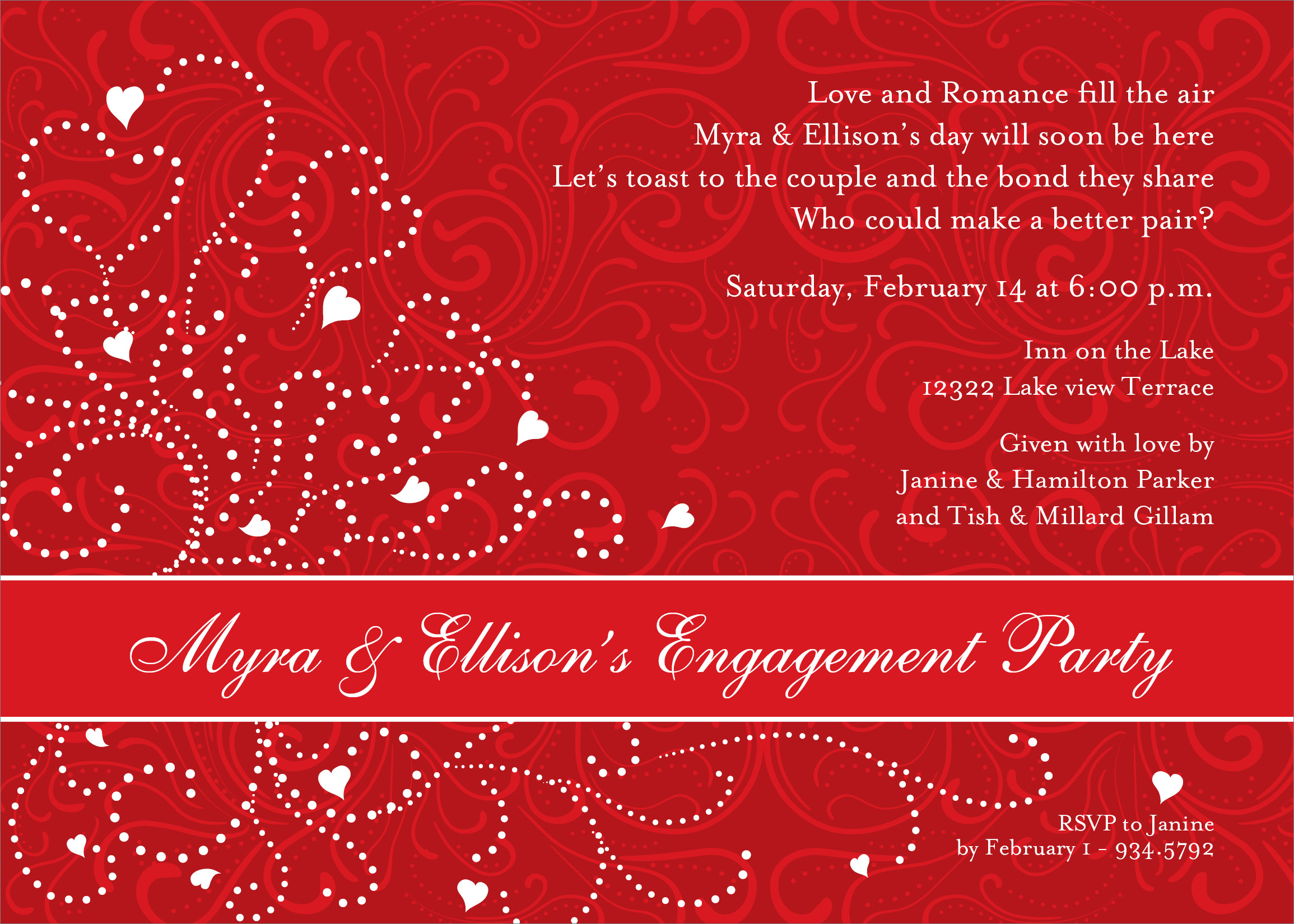 Red And White Wedding Invitation Templates - Menshealtharts