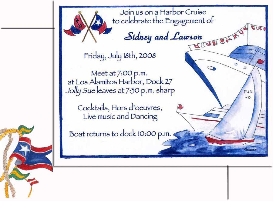 bon Voyage Invitation - This nautical themed invitation is created on ...