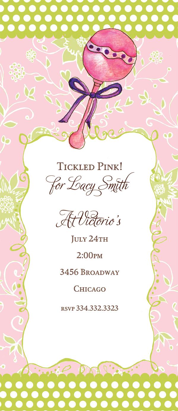 Tickled Pink Invitation is beautiful invitation ideas