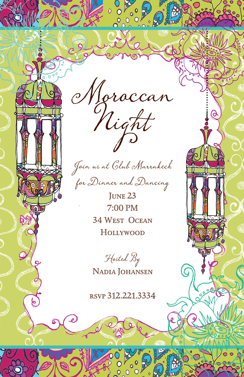 ... design create the perfect moroccan invtition. Includes a coordinating