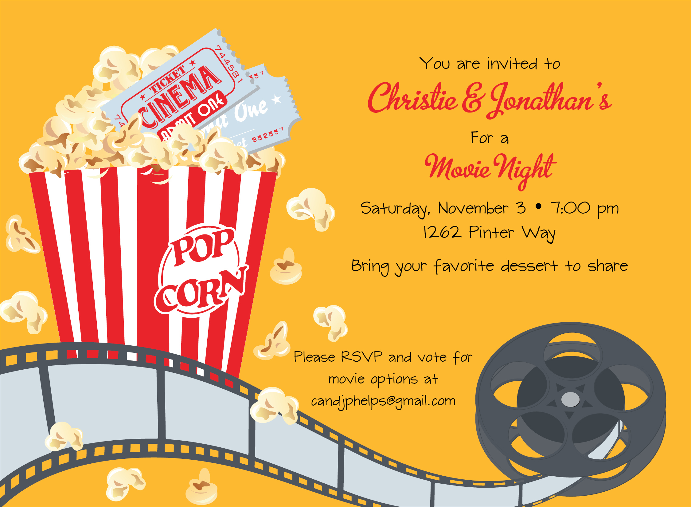 Reel Party Invitations is good invitations example