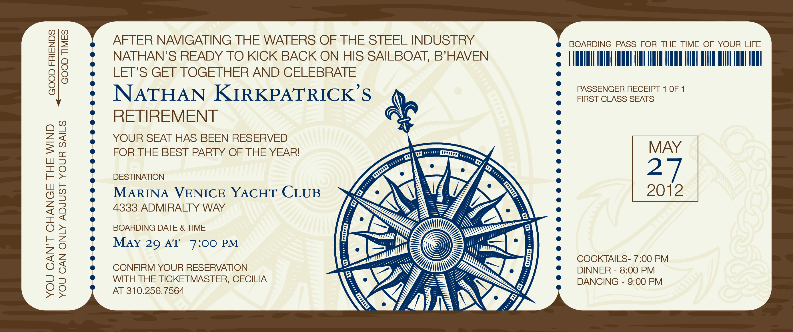 "Quick View - ID-1148 - ""Nautical Boarding Pass Invitation"""