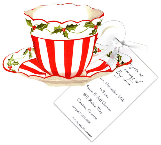 Quick View Yhw726 Quot Red And White Christmas Tea Die Cut