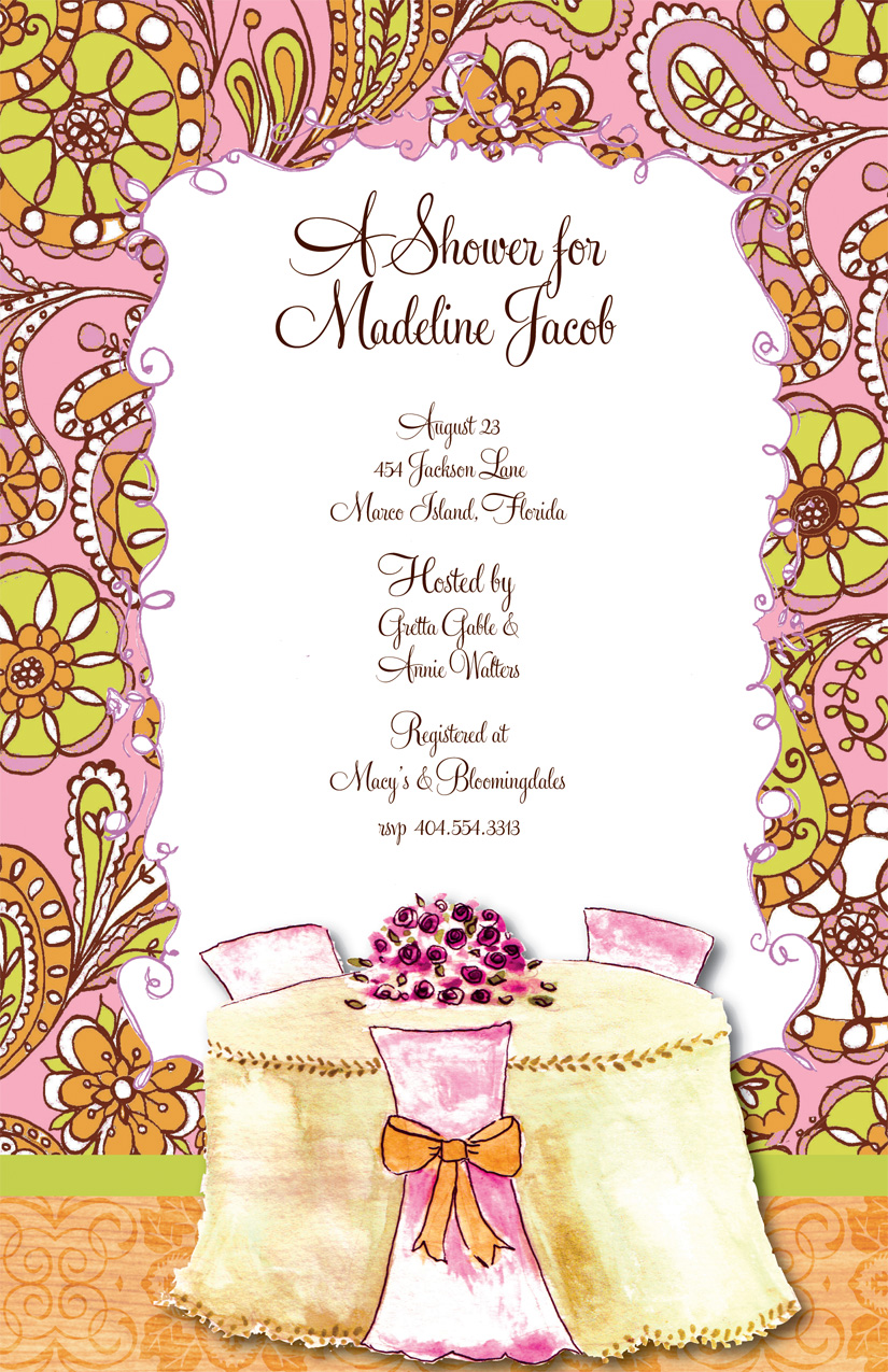 Bridal Brunch Shower Invitations for adorable invitation example